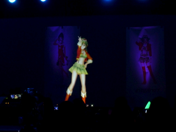 GUMI doing a dance onstage