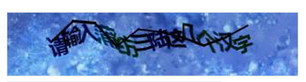 A sample of the captcha used during the miaosha sale.  The buyer is asked to write in Chinese four of the characters in the sentence.