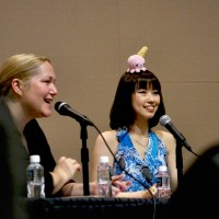 Shimoda (right) and Wilkerson (left) at Saturday's panel