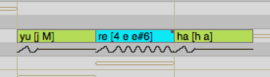 An example of using Voice Color in Vocaloid 4 Editor for Cubase with the Kagamine Rin V4X sound bank.